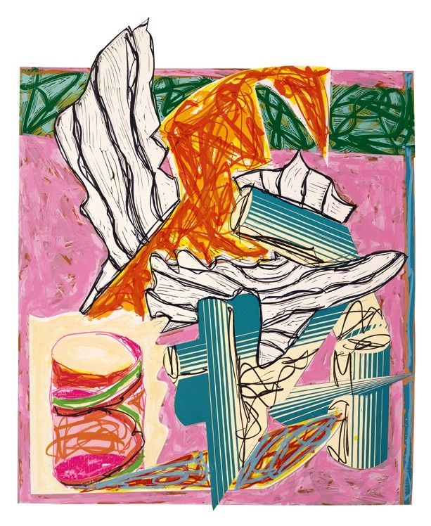 """<span class=""""artist""""><strong>Frank Stella</strong></span>, <span class=""""title""""><em>Illustrations after El Lissitzky's 'Had Gadya': 10. And the Holy One, blessed be He, came and smote</em>, 1985</span>"""