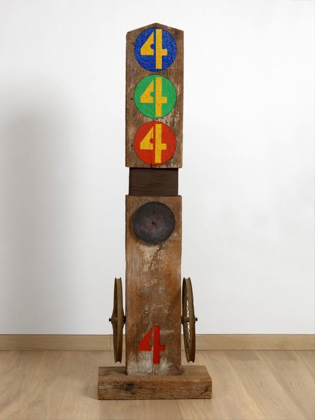 "<span class=""artist""><strong>Robert Indiana </strong></span>, <span class=""title""><em>Four</em>, 1962</span>"