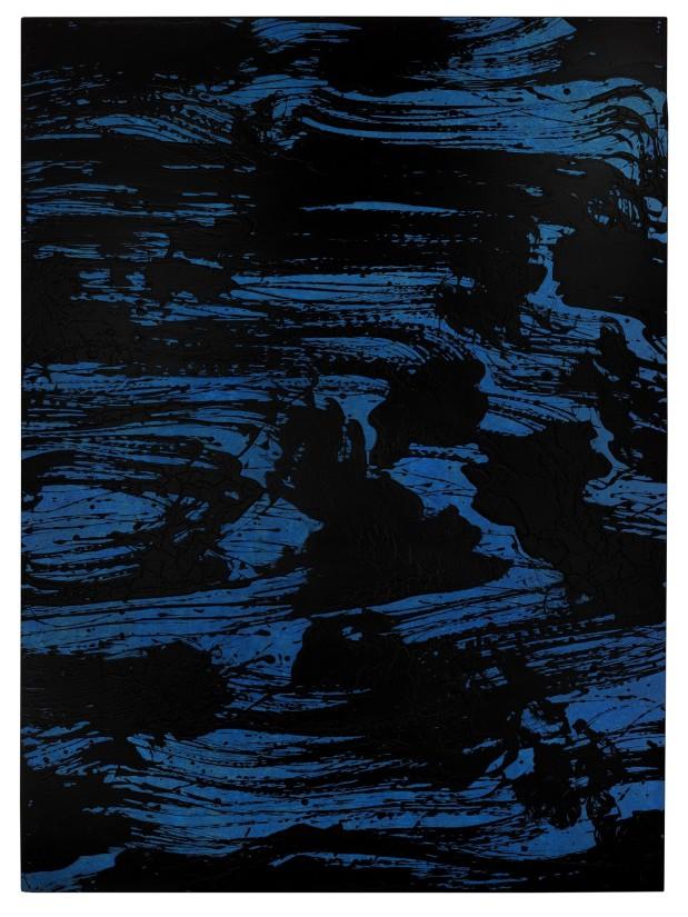 Rythmes et reflets Solo bleu II