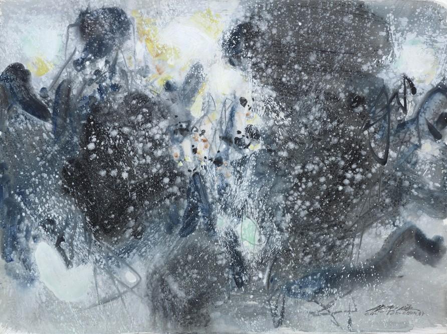 "<span class=""artist""><strong>Chu Teh-Chun</strong></span>, <span class=""title""><em>Inspiration hivernale - aquarelle</em>, 1987</span>"