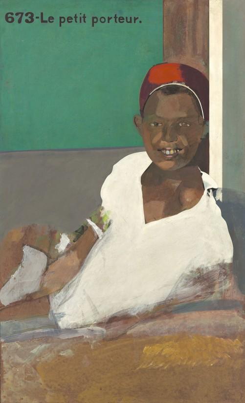 "<span class=""artist""><strong>Peter Blake</strong></span>, <span class=""title""><em>Le Petit Porteur</em>, 1964–1965</span>"