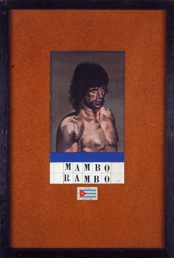 "<span class=""artist""><strong>Peter Blake </strong></span>, <span class=""title""><em>Mambo Rambo</em>, 1987</span>"