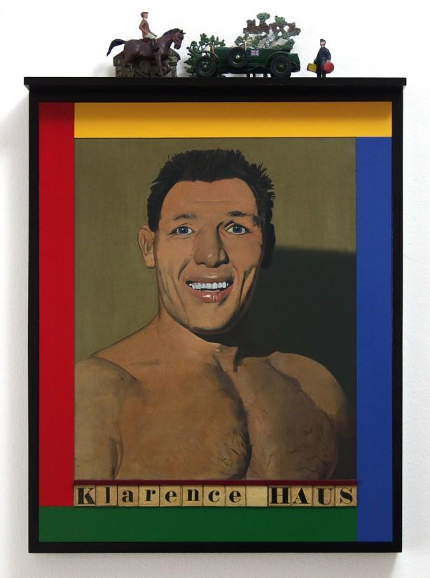 "<span class=""artist""><strong>Peter Blake </strong></span>, <span class=""title""><em>Klarence Haus </em>, 1989</span>"