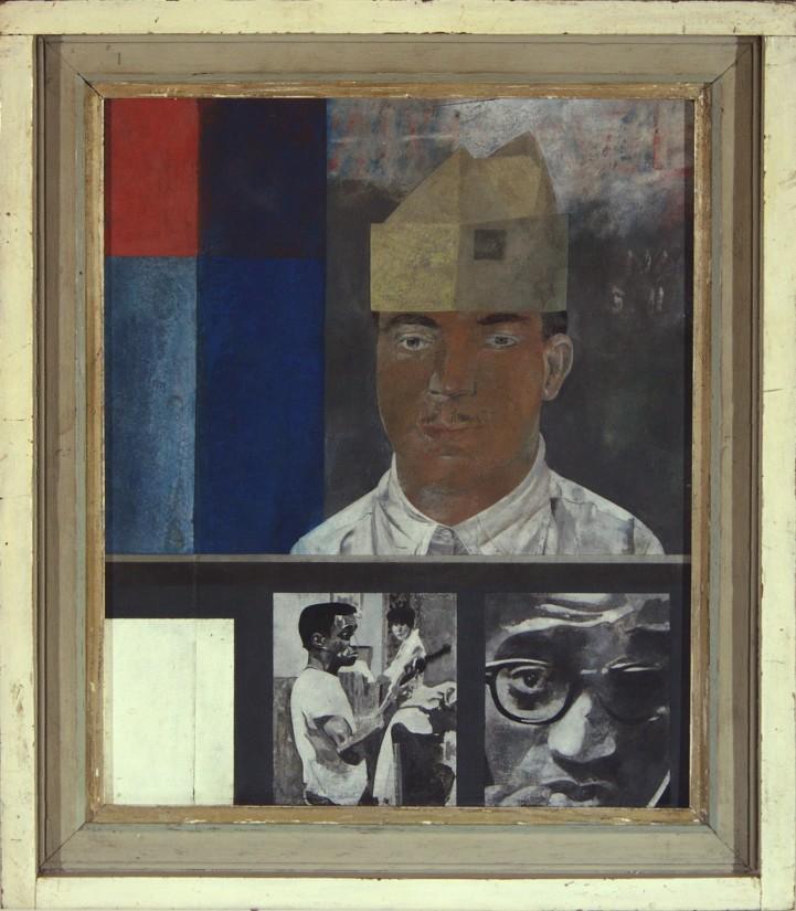 "<span class=""artist""><strong>Peter Blake</strong></span>, <span class=""title""><em>Portrait of Sammy Davis Jr </em>, 1960</span>"