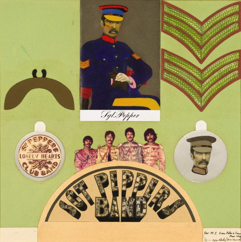 """<span class=""""artist""""><strong>Peter Blake and Jann Haworth</strong></span>, <span class=""""title""""><em> Insert for Sgt. Pepper's Lonely Hearts Club Band</em>, 1967</span>"""