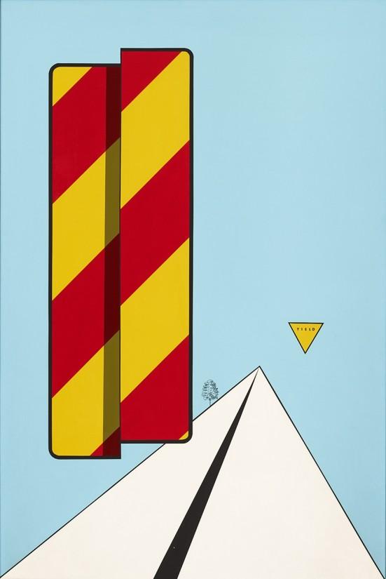 """<span class=""""artist""""><strong>Allan D'Arcangelo</strong></span>, <span class=""""title""""><em>Untitled</em>, 1967</span>"""