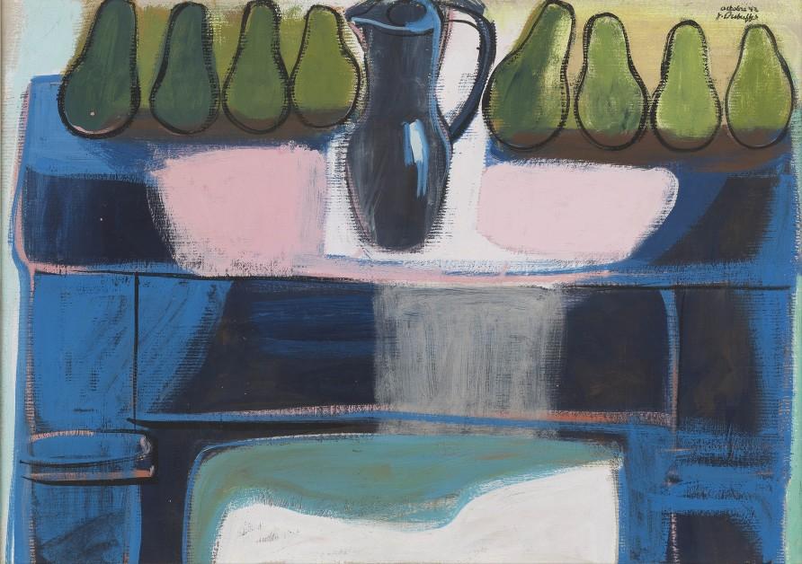 """<span class=""""artist""""><strong>Jean Dubuffet</strong></span>, <span class=""""title""""><em>Poires sur la cheminée  octobre 1942</em>, 1942</span>"""
