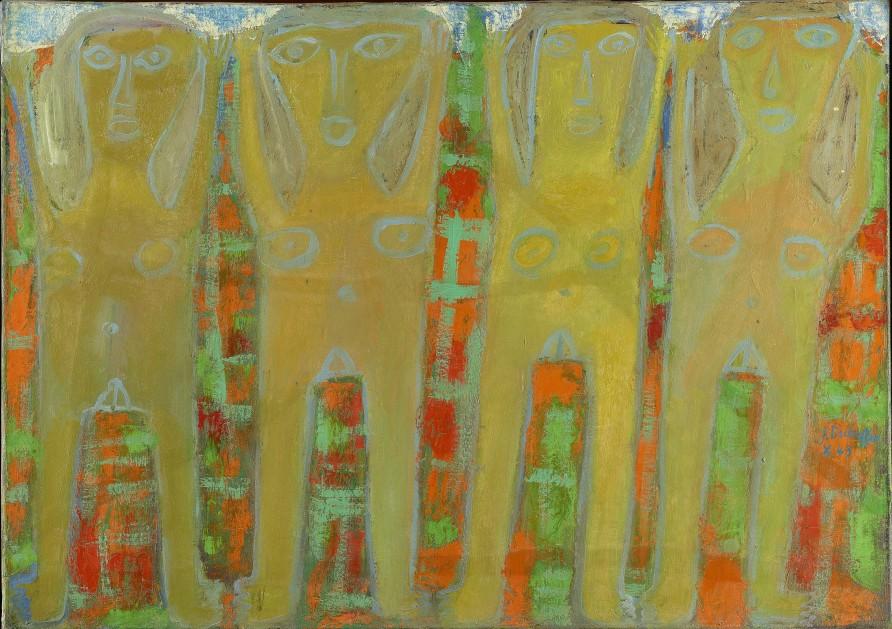 """<span class=""""artist""""><strong>Jean Dubuffet</strong></span>, <span class=""""title""""><em>Quatre leveuses de bras  octobre 1943</em>, 1943</span>"""