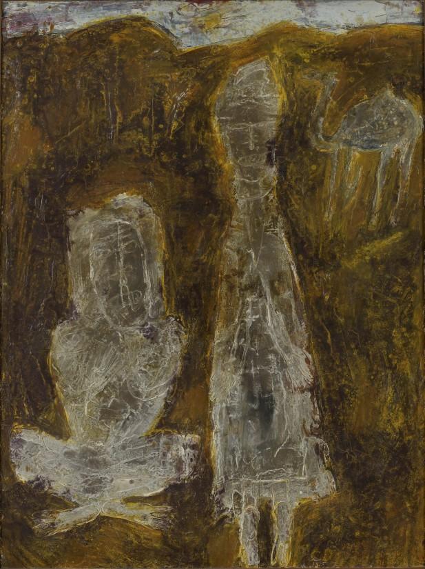 """<span class=""""artist""""><strong>Jean Dubuffet</strong></span>, <span class=""""title""""><em>Le soleil les decolore  24 avril 1947</em>, 1947</span>"""