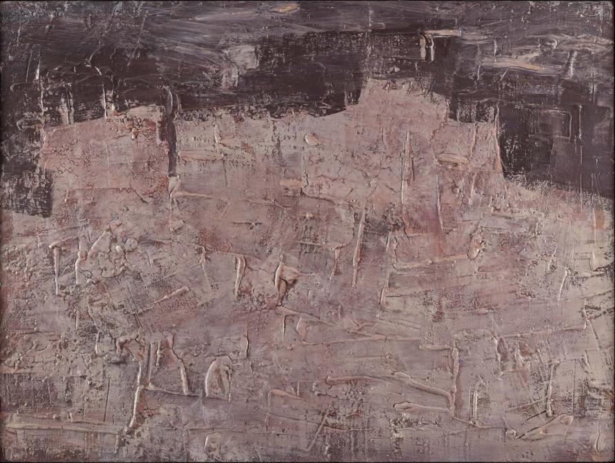 """<span class=""""artist""""><strong>Jean Dubuffet</strong></span>, <span class=""""title""""><em>Paysage aux châteaux de rochers  janvier 1952</em>, 1952</span>"""