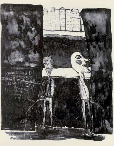 Pisseurs au mur 16 janvier 1945