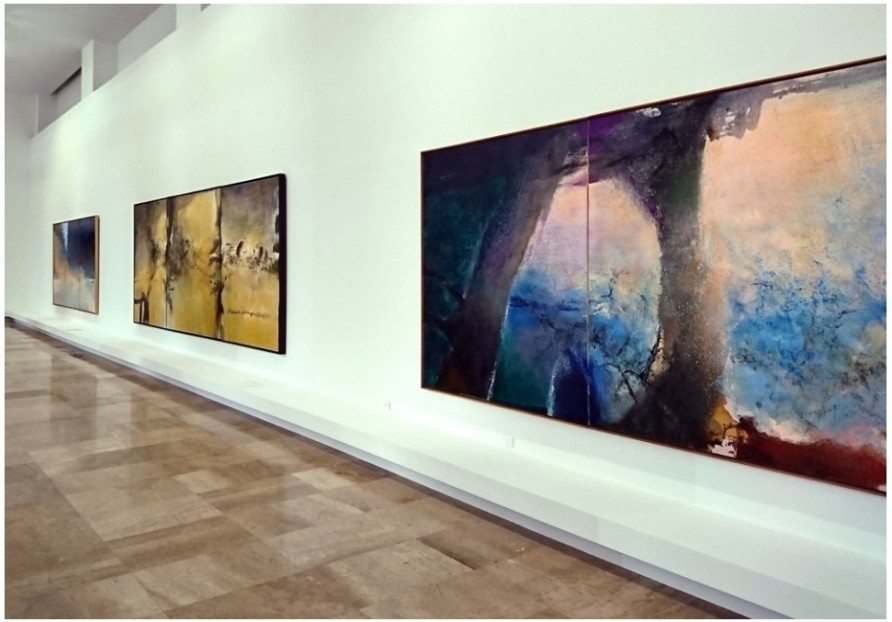 Installation view of 'Zao Wou-Ki. Space is silence', City of Paris Museum of Modern Art