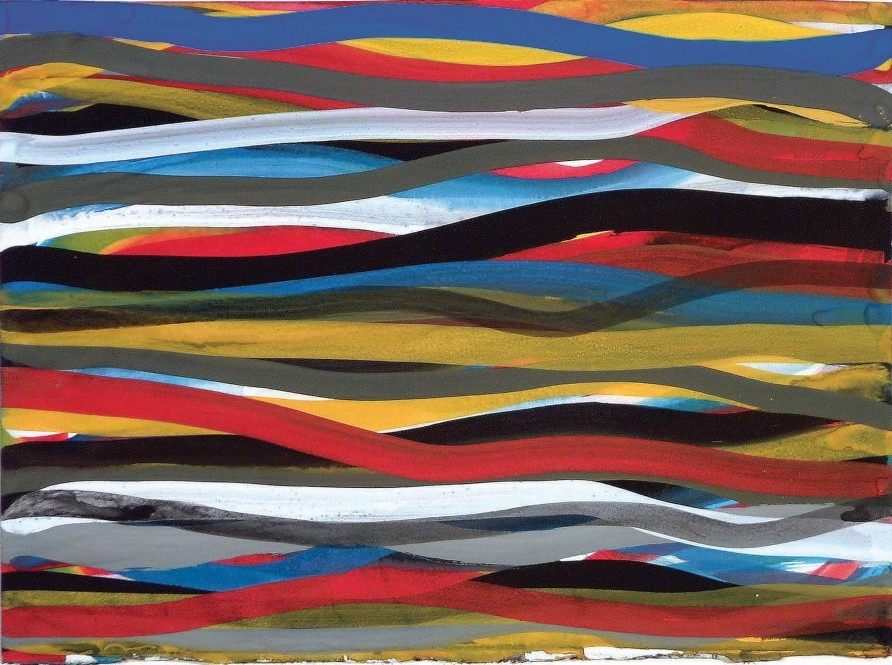 Untitled (Mixed colours wavy lines)