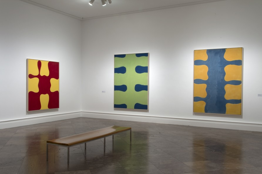 Installation image, 'Imperfections by Chance: Paul Feeley Retrospective, 1954-1966', Albright-Knox
