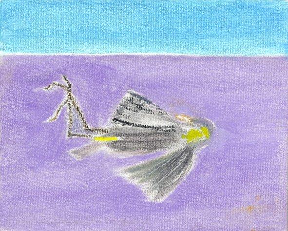<strong>Craigie Aitchison</strong>, <em>Dead Bird III</em>, 2000