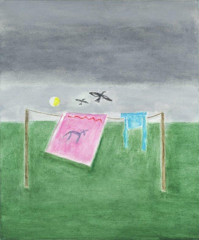 <strong>Craigie Aitchison</strong>, <em>Washing Line, Montecastelli</em>, 2001