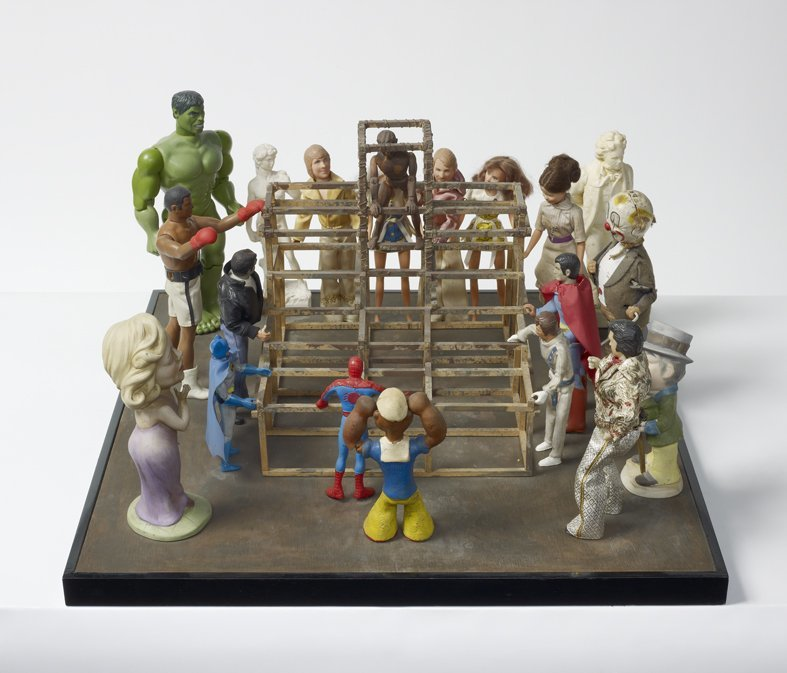 <strong>Peter Blake</strong>, <em>The Performance Artist (from Incidents from a Sculpture Park)</em>, 1983