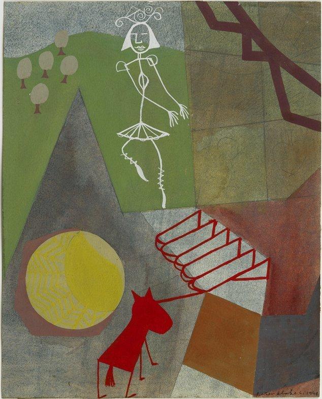 <strong>Peter Blake</strong>, <em>Dancer</em>, c.1948