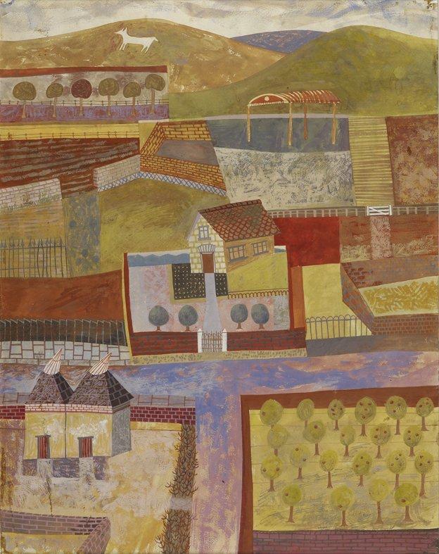 <strong>Peter Blake</strong>, <em>Kentish Landscape</em>, c.1949