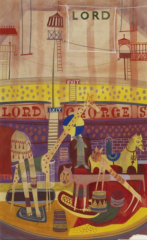 <strong>Peter Blake</strong>, <em>Lord George Sanger's Circus Poster</em>, 1949