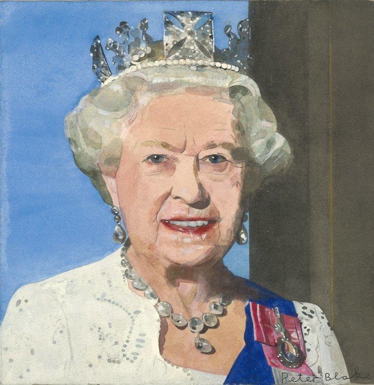 Portrait of Queen Elizabeth II (Radio Times Diamond Jubilee Royal Souvenir Cover)