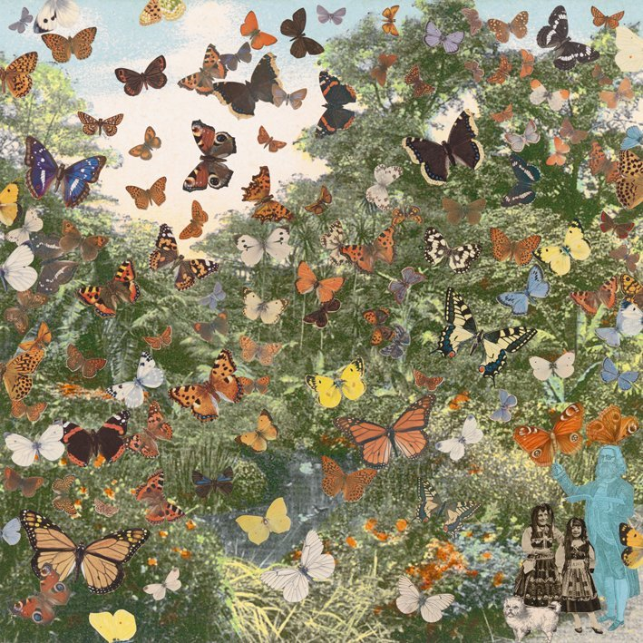 <strong>Peter Blake</strong>, <em>London: Hyde Park - Positively the Last Appearance of the Butterfly Man</em>, 2012