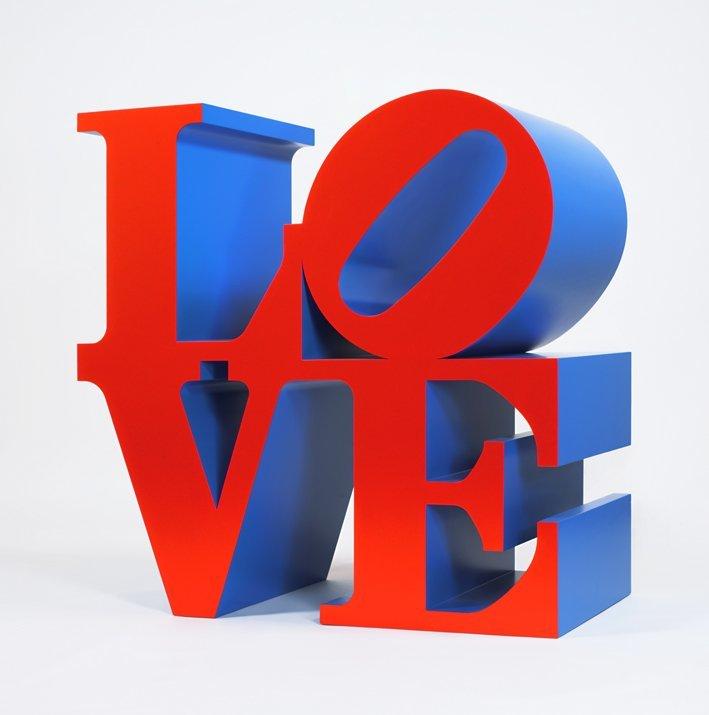 <strong>Robert Indiana</strong>, <em>LOVE (Red faces Blue sides)</em>, 1966-1999
