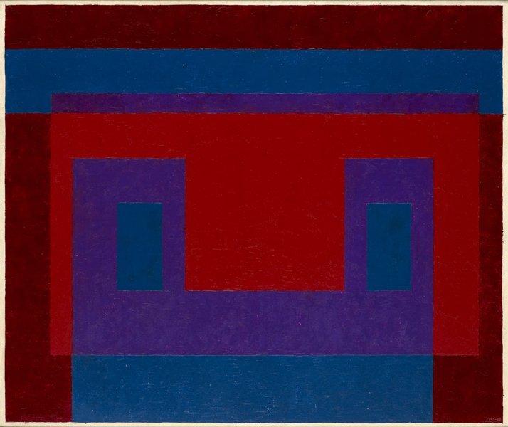 <strong>Josef Albers</strong>, <em>Variant / Adobe: ''Red Front''</em>, 1947-56