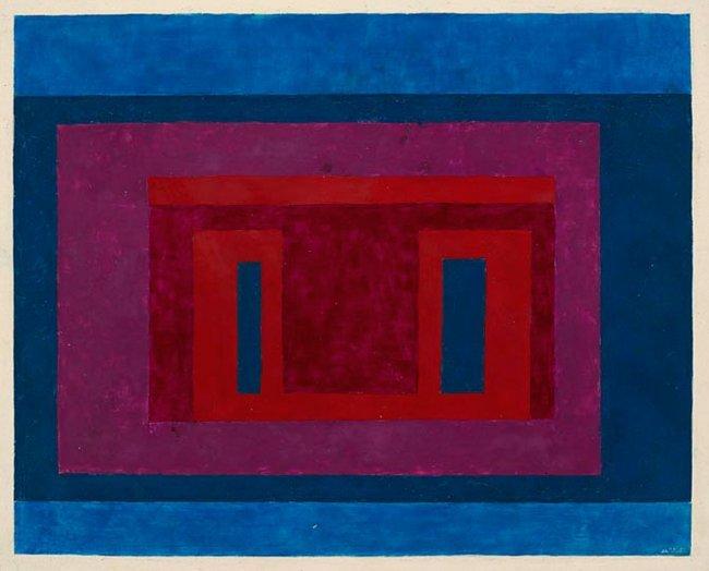 <strong>Josef Albers</strong>, <em>Variant / Adobe</em>, 1948-51