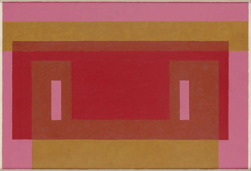 <strong>Josef Albers</strong>, <em>Variant / Adobe: ''Reds and Ochre with Pink''</em>, 1948