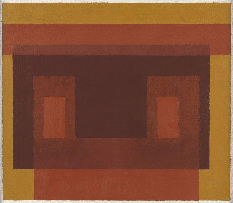<strong>Josef Albers</strong>, <em>Variant / Adobe: ''3 Browns and Ochre''</em>, 1948-47