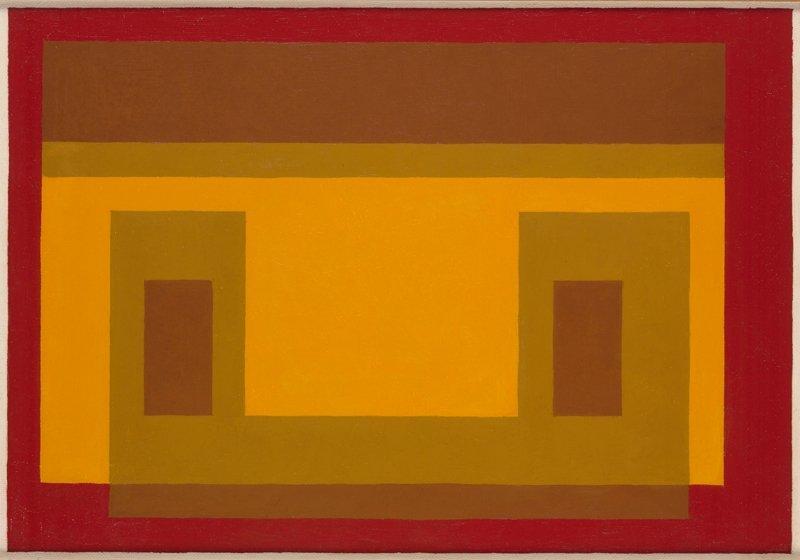 <strong>Josef Albers</strong>, <em>Variant / Adobe</em>, 1956