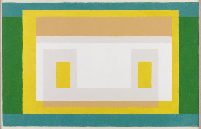 <strong>Josef Albers</strong>, <em>Variant: 'With First Green'</em>, 1947-55
