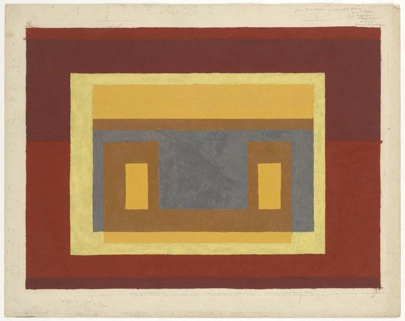 <strong>Josef Albers</strong>, <em>Study for Variant / Adobe</em>, 1947