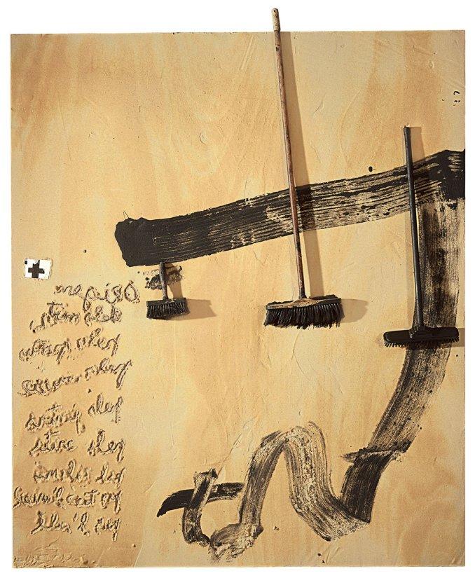 <strong>Antoni Tàpies</strong>, <em>Tres Raspalls (Three Brushes)</em>, 2008