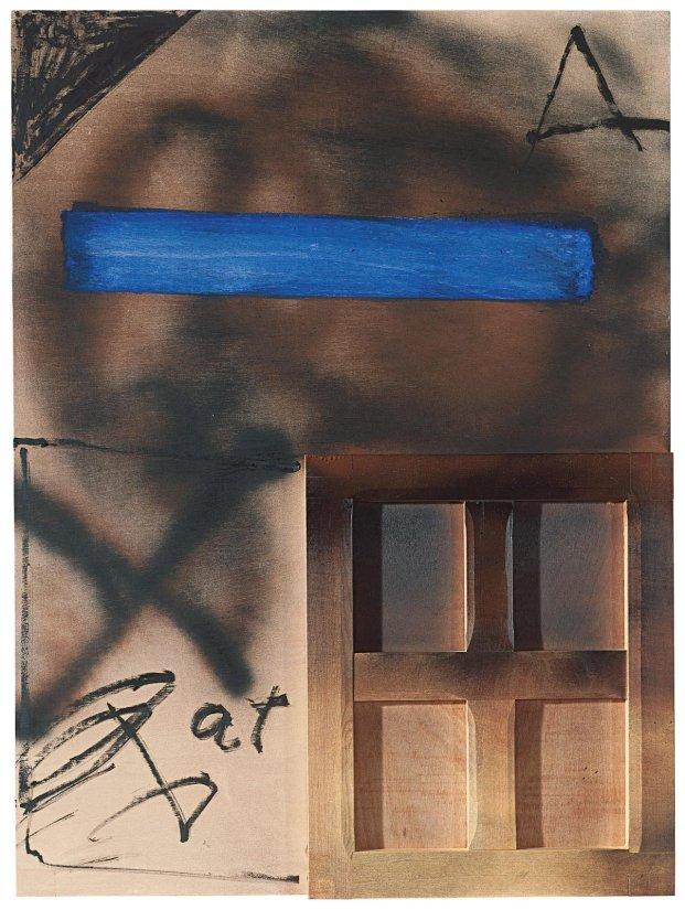 <strong>Antoni Tàpies</strong>, <em>Franja blava (Blue strip)</em>, 2008