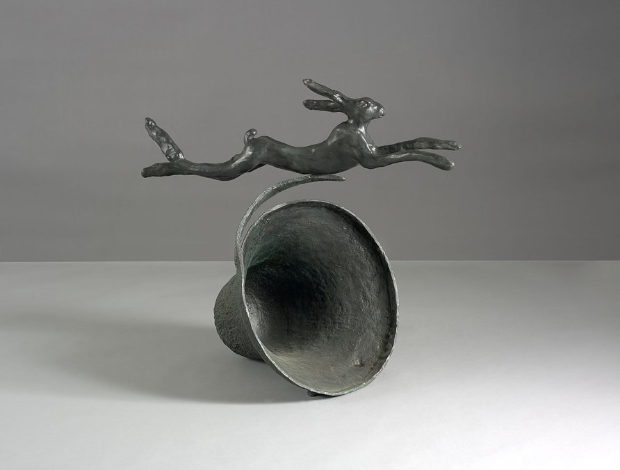<strong>Barry Flanagan</strong>, <em>Hare on Curly Bell</em>, 1980
