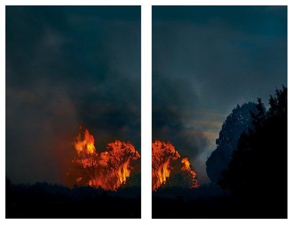 <strong>Axel Hütte</strong>, <em>Capulin Fire - 1, Dip., New Mexico</em>, 2007