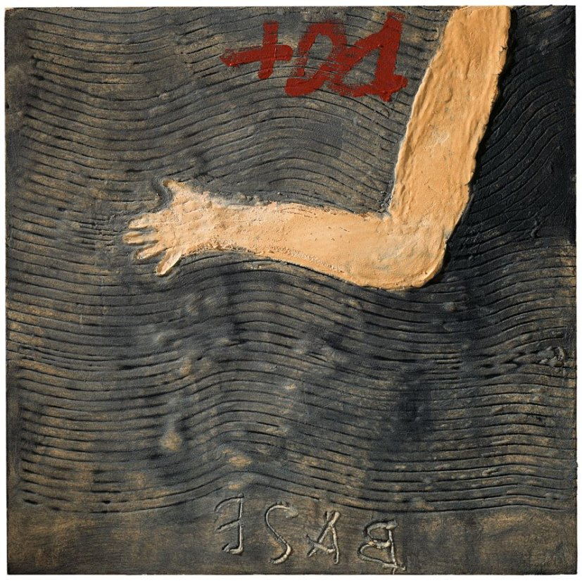 <strong>Antoni Tàpies</strong>, <em>Ondulacions i braç (Waves and arm)</em>, 2009