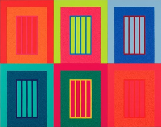 <strong>Peter Halley</strong>, <em>Six Prisons</em>, 2009