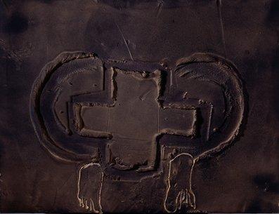 <strong>Antoni Tàpies</strong>, <em>Creu i dos peus / Cross and two feet</em>, 2007