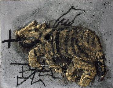 <strong>Antoni Tàpies</strong>, <em>Gat / Cat</em>, 2004
