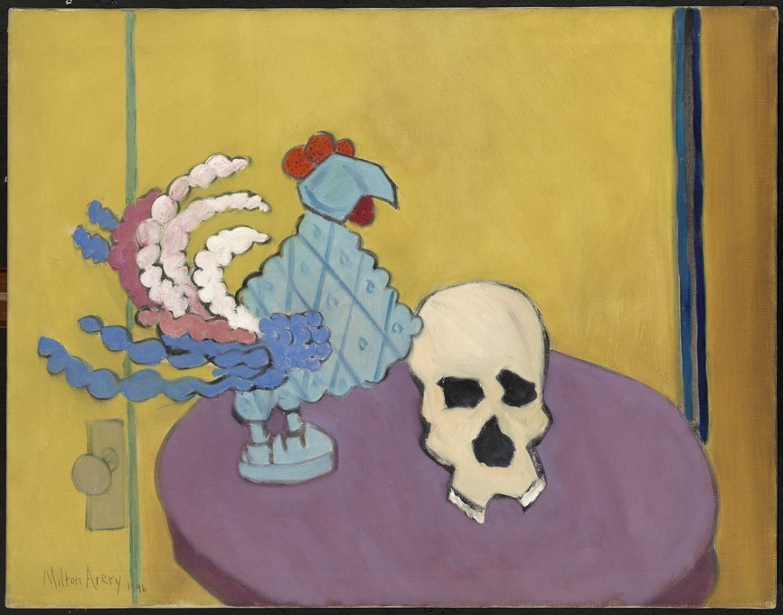 <strong>Milton Avery</strong>, <em>Still Life with Skull</em>, 1946
