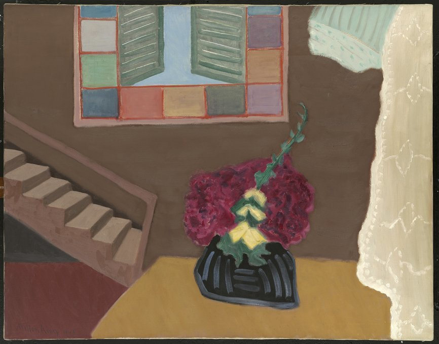 <strong>Milton Avery</strong>, <em>Interior with Flowers</em>, 1948
