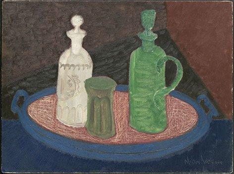 <strong>Milton Avery</strong>, <em>Still Life with Bottles</em>, 1949