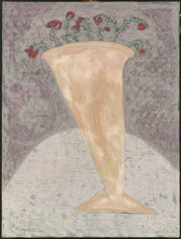 <strong>Milton Avery</strong>, <em>Vase with Flowers</em>, 1950