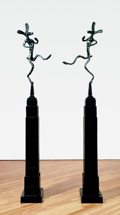 """<span class=""""artist""""><strong>Barry Flanagan</strong></span>, <span class=""""title""""><em>Empire State with Bowler, Mirrored</em>, 1997</span>"""