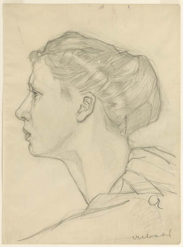 <strong>Josef Albers</strong>, <em>Woman (II)</em>, c.1914
