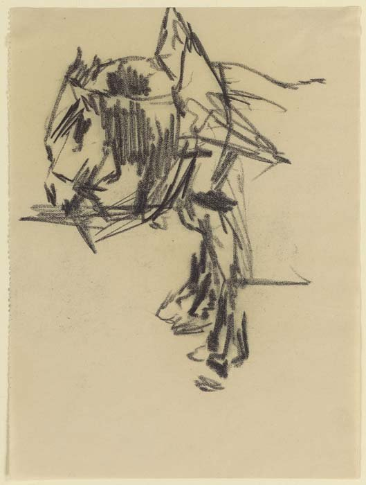 <strong>Josef Albers</strong>, <em>Two Workhorses</em>, c.1917