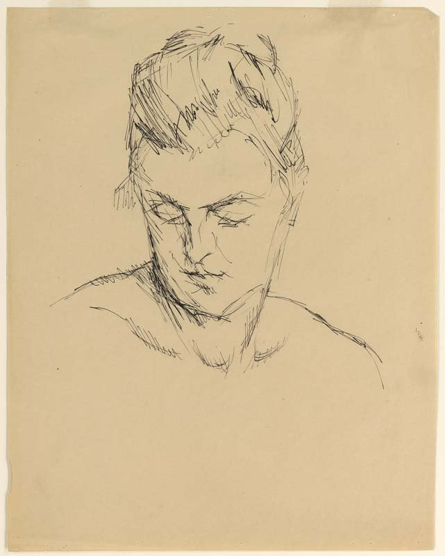 <strong>Josef Albers</strong>, <em>Woman's Head (IV)</em>, c.1918